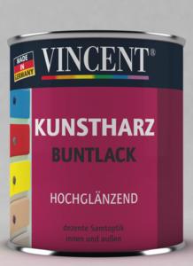 Vincent              Kunstharzlack reinweiß hochglänzend