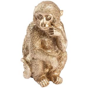 Dekofigur Affe in Gold-Optik