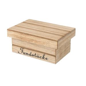 Kleine Holzdose mit Schriftzug