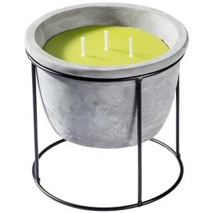 Zementtopf mit Kerze