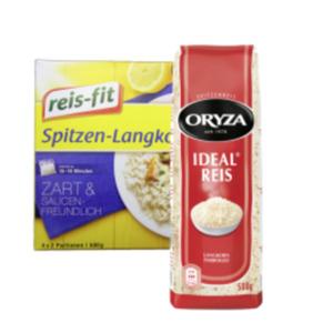 Oryza Reis lose oder reis-fit Reis im Kochbeutel