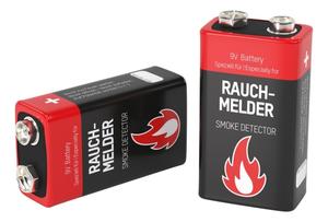 9V Alkaline Rauchmelder Batterien Ansmann