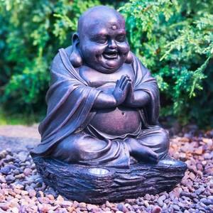 Solar-Figur »Lachender Buddha Bronze-Effekt«