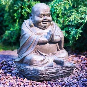 Solar-Figur »Lachender Buddha Stein-Effekt«