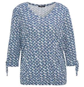 olsen             Shirt, Baumwoll-Mix, Kreise, Schleifen-Applikationen an den Ärmeln