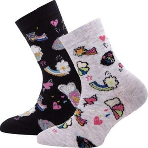 Socken Doppelpack , Comic Gr. 23-26 Mädchen Kinder