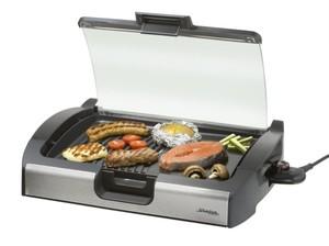Steba BBQ-Tischgrill VG 200 ,  Barbecue-Elektrogrill, Schwarz-Glas