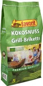 Favorit Kokos Grillbriketts 5 kg ,  5 kg