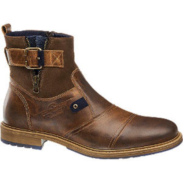Details zu AM Shoe Company Deichmann Herren Stiefel Warmfutter Braun Leder Gr.40 42 Neu&OVP