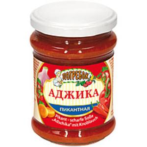 """Pikant scharfe Soße """"Adschika"""" mit Knoblauch"""