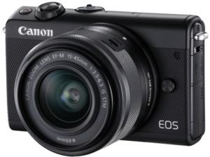CANON EOS M100 Kit Systemkamera 24.2 Megapixel mit Objektiv 15-45 mm f/6.3, 7.5 cm Display   Touchscreen, WLAN