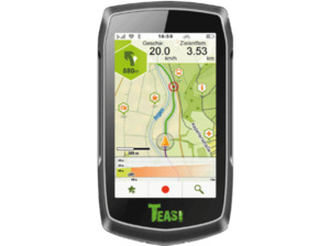 TEASI One Classic, Fahrrad, Outdoor, Wandern, Schifffahrt, Fußgänger Navigationsgerät, 3.5 Zoll, Kartenmaterial Europa, Micro-SD Slot
