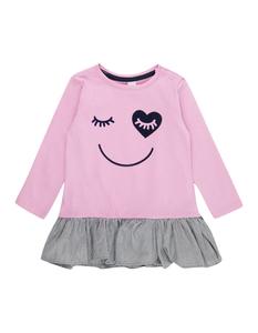 Baby Longshirt mit Volantsaum