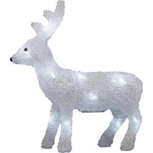 Polarlite Acryl-Figur Rentier Kalt-Weiß LED LBA-52-005 Weiß