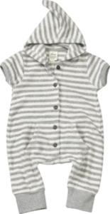 ALANA Baby-Spieler, Gr. 62, in Bio-Baumwolle, weiß, grau, für Mädchen und Jungen
