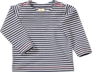 ALANA Baby-Pullover, Gr. 68, in Bio-Baumwolle, weiß, blau, für Mädchen und Jungen