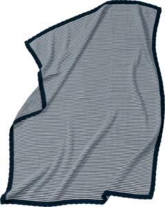 ALANA Baby-Decke, in Bio-Baumwolle, 80x100 cm, blau, weiß, für Mädchen und Jungen