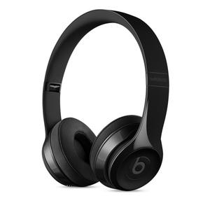 BEATS Solo3 Wireless Schwarz glänzend - On-Ear Wireless Kopfhörer (Bluetooth, Akku für bis zu 40 Std., Mikrofon)