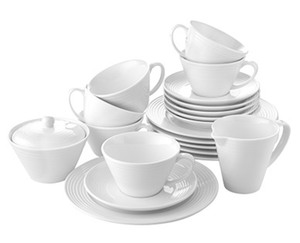 CROFTON®  Chef's Collection Modernes Kaffeeservice, 20-teilig