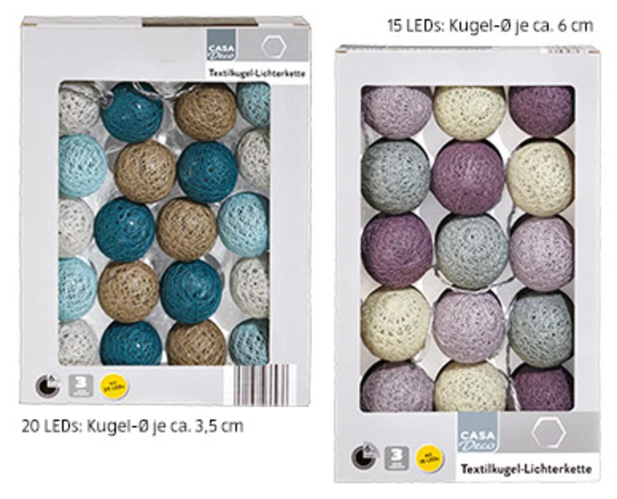 Bild 1 von CASA Deco Textilkugel-Lichterkette