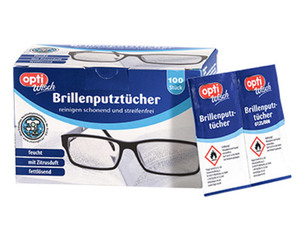 optiWisch 100 Brillenputztücher