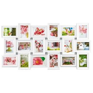 INTERTRADING Bilderrahmen Collage BERLIN für 18 Bilder Kunststoff weiß
