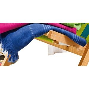 Strandlaken uni mit Querstreifen 100 x 180 cm in Blau