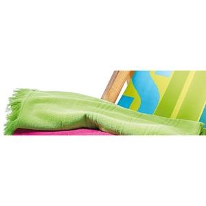 Strandlaken uni mit Querstreifen 100 x 180 cm in Grün