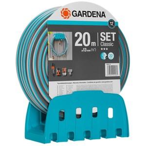GARDENA Wandschlauchhalter mit Schlauch Classic, 20 m, 13 mm (1/2 Z) und Spritze