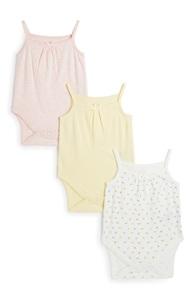 Träger-Body für Neugeborene, 3er-Pack