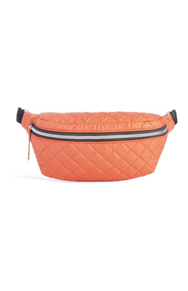 großhandel online Top Design wo zu kaufen Gesteppte Gürteltasche in Orange