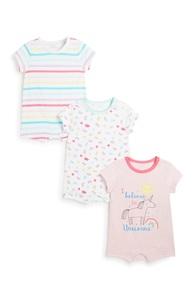 Strampler für Neugeborene (M), 3er-Pack