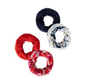 Damen-Loop-Schal mit wunderschönem Muster, 2er Pack