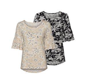 Laura Torelli COLLECTION Damen-T-Shirt mit Blumenmuster
