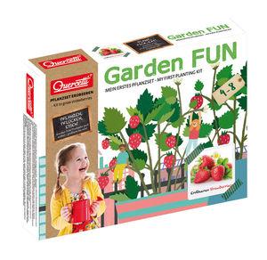 Quercetti Garden-Fun-Pflanzset für Erdbeeren, 9-teilig