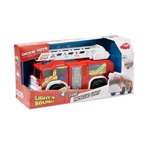 Dickie Feuerwehrfahrzeug mit ausfahrbarer Leiter, ca. 30cm
