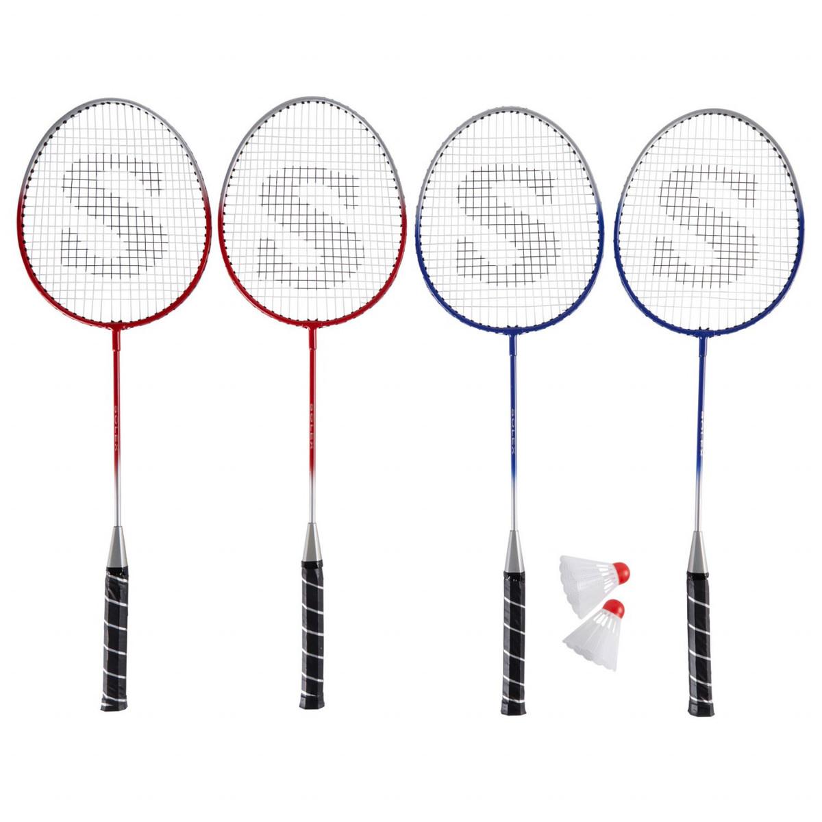 Bild 2 von Solex Badminton 4-Schläger-Set mit Netzgarnitur, Bällen & Tasche