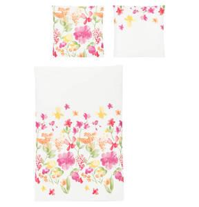"Irisette             Bettwäschegarnitur ""Summer 91"", florales Muster, Mako-Satin"
