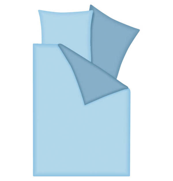 GALERIA SELECTION             Wende-Bettwäschegarnitur, 100% Baumwolle, zweifarbig, Perkal