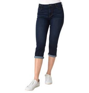 edc             Capri-Jeans, Slim Fit, Umschlag, Waschung