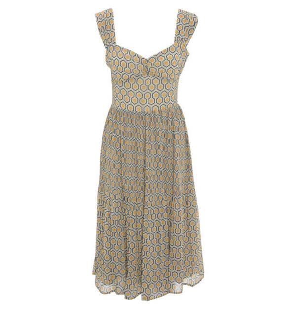 Pepe Jeans             Kleid, Chiffon, Allover-Muster, Reißverschluss