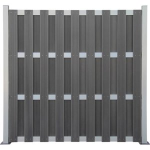 WPC Zaun mit Alu-Elementen 180 cm x 180 cm