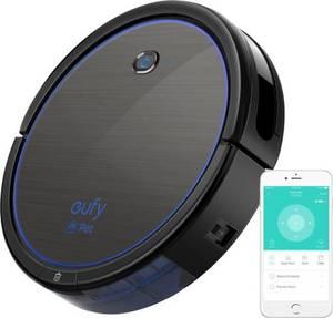 Anker Eufy Robovac R550c Saugroboter Schwarz, Blau Kompatibel mit Amazon Alexa, App gesteuert, Fernbedienbar