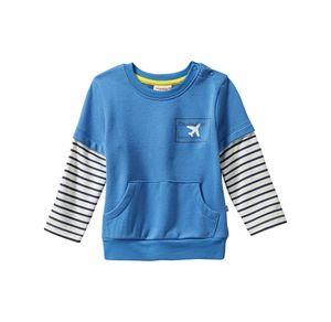 Liegelind Baby-Jungen-Sweatshirt mit Kontrast-Ärmeln