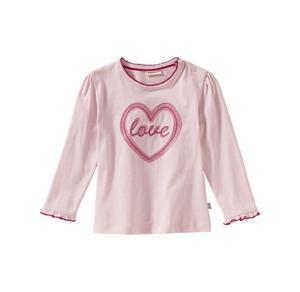 Liegelind Baby-Mädchen-Shirt mit liebevoller Herz-Stickerei
