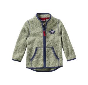 Liegelind Baby-Jungen-Strickfleece-Jacke in Melange-Optik