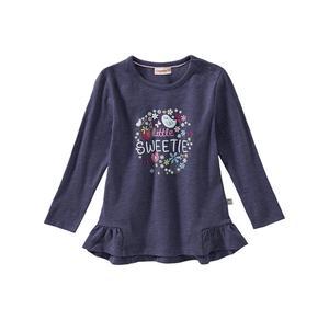 Liegelind Baby-Mädchen-Shirt mit Blumen-Frontaufdruck