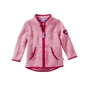 Liegelind Baby-Strickfleece-Jacke in Melange-Optik