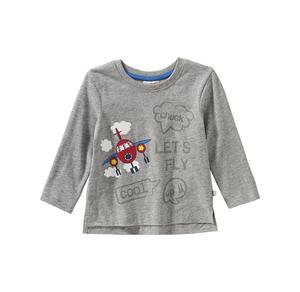 Liegelind Baby-Jungen-Shirt mit Flugzeug-Aufdruck