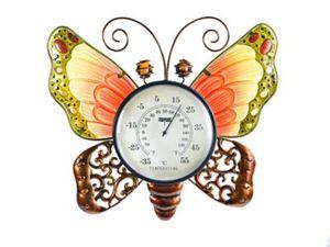 """Wanddeko """"Schmetterling"""" mit Thermometer"""